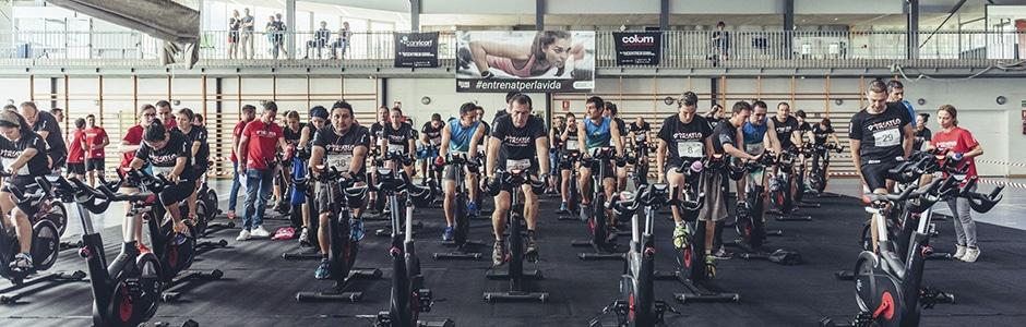 Triatlón indoor solidario 2018 cabecera