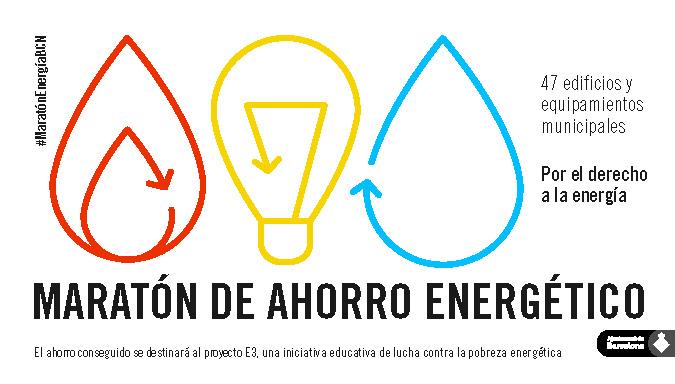 cartel La Maratón de ahorro energético