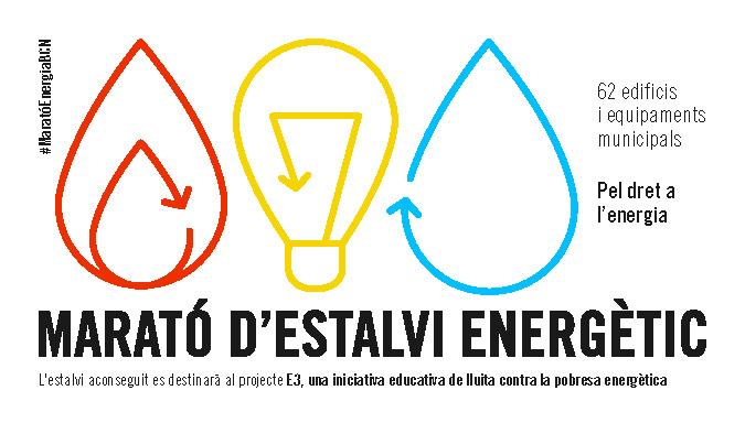 cartell la marató d'estalvi energètic